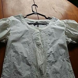 Vintage Inspired White Blouse